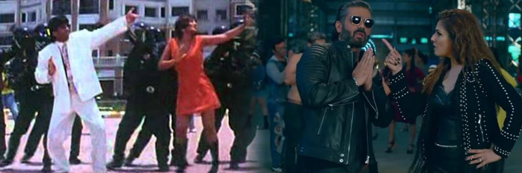 old hindi songs remix shehar ki ladki songs. Raveena Tandon with Sunil Shetty.