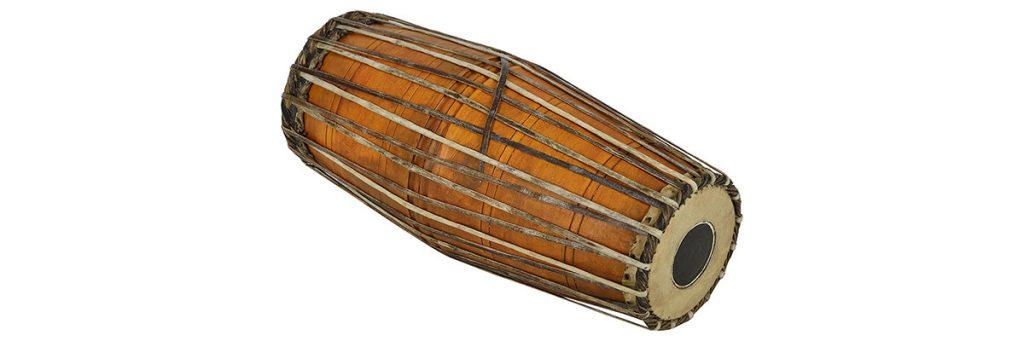 Mridangam indian musical instrument