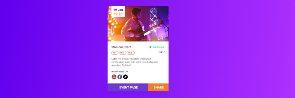 Live stream event description