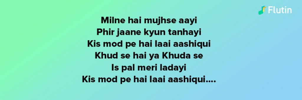 sung by arijit singh from the movie Ashiqui 2
