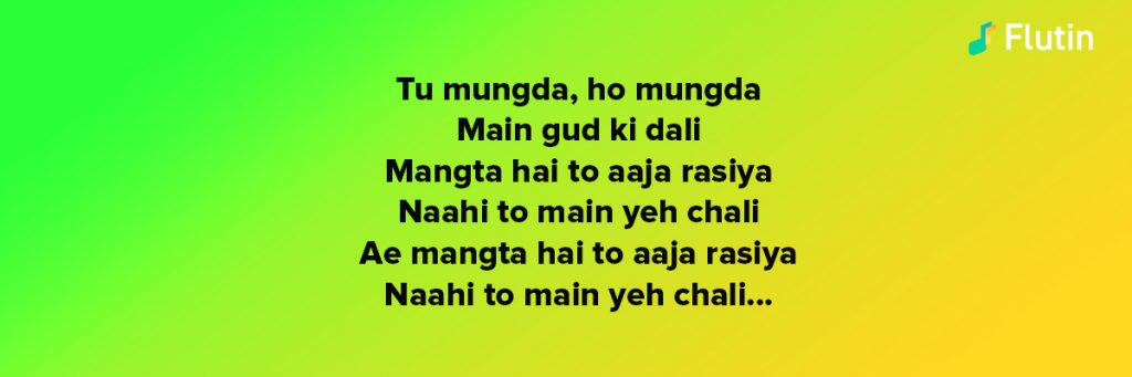 Mungda song for the game