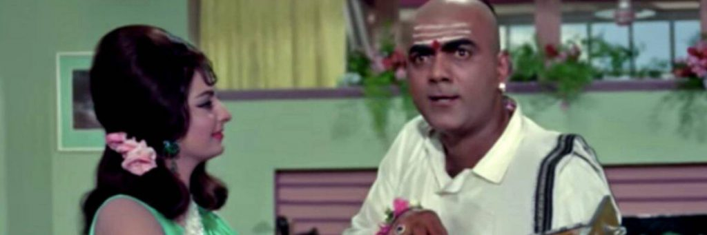 mahmood the iconic comedian from the movie Padosan, Ek Chatur Naar song bollywood funny songs