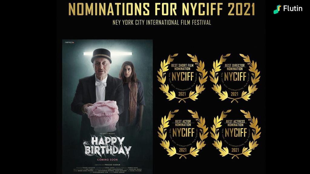 Anupam Kher short movie Happy birthday won best actor award