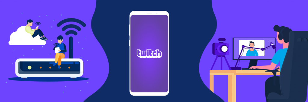 twitch streaming on flutin live