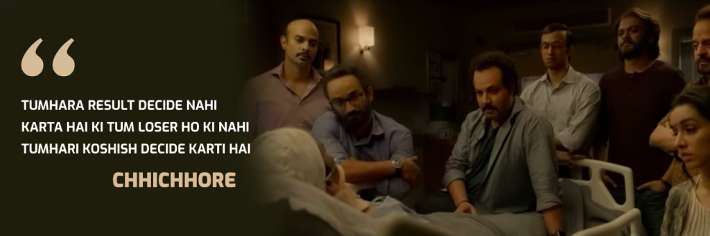 Iconic sushant singh rajput dialogues from the cult movie chhichhore