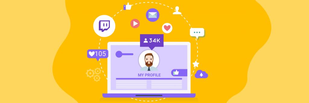 Profile setup on Twitch Streaming followers
