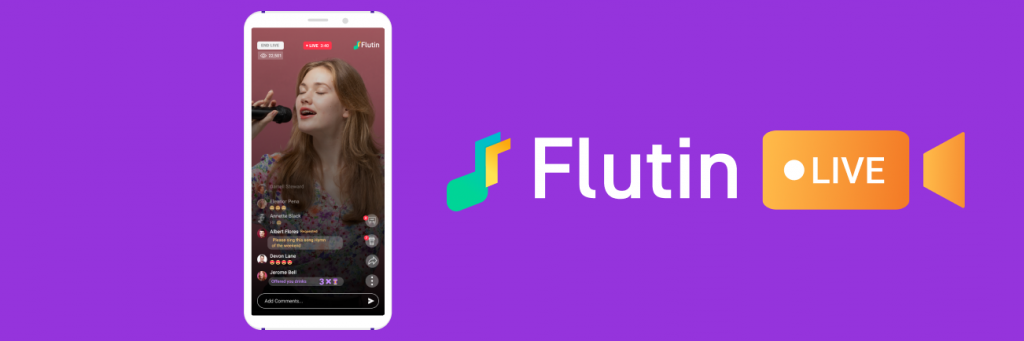 facebook live, youtube live, twitch live and Instagram live all are available in Flutin Live.